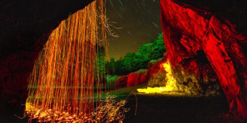 Feuervorhang / Feuerwerk